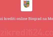 Brzi krediti online Biograd na Moru