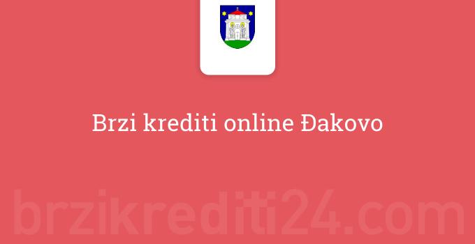 Brzi krediti online Đakovo