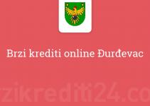 Brzi krediti online Đurđevac