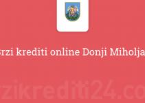 Brzi krediti online Donji Miholjac