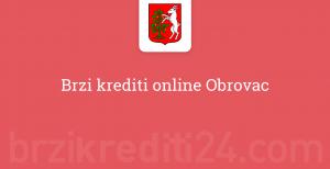 Brzi krediti online Obrovac