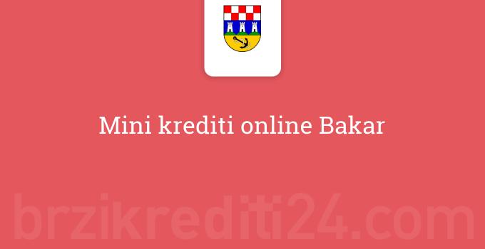 Mini krediti online Bakar
