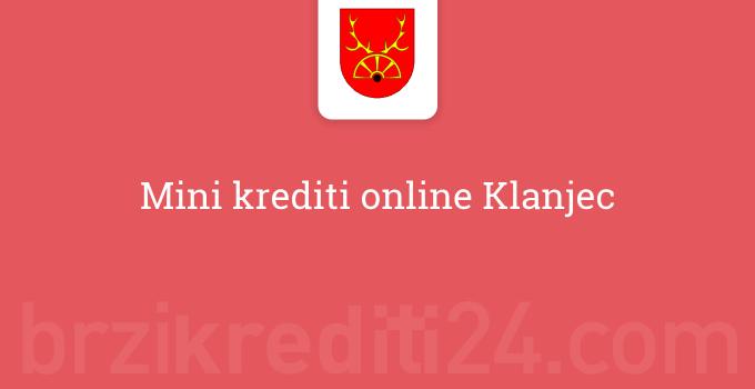 Mini krediti online Klanjec
