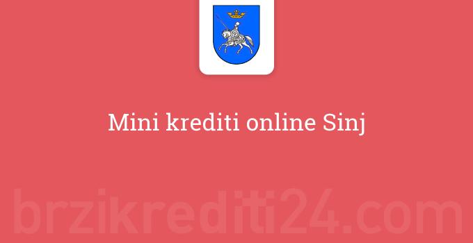 Mini krediti online Sinj