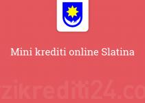 Mini krediti online Slatina