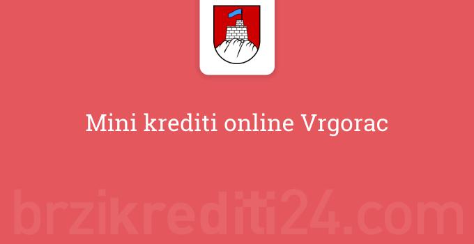 Mini krediti online Vrgorac
