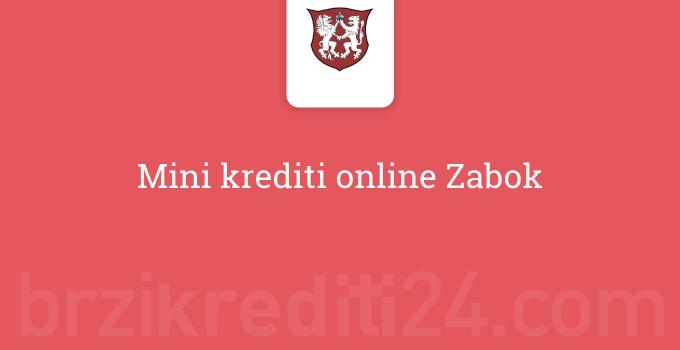 Mini krediti online Zabok
