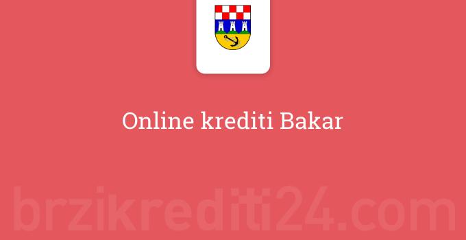 Online krediti Bakar
