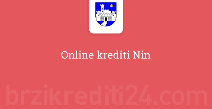 Online krediti Nin