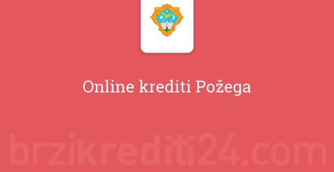 Online krediti Požega