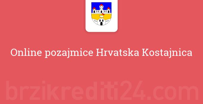 Online pozajmice Hrvatska Kostajnica