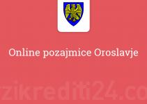 Online pozajmice Oroslavje