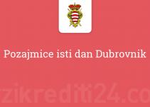 Pozajmice isti dan Dubrovnik