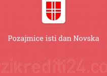 Pozajmice isti dan Novska