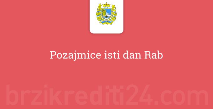 Pozajmice isti dan Rab
